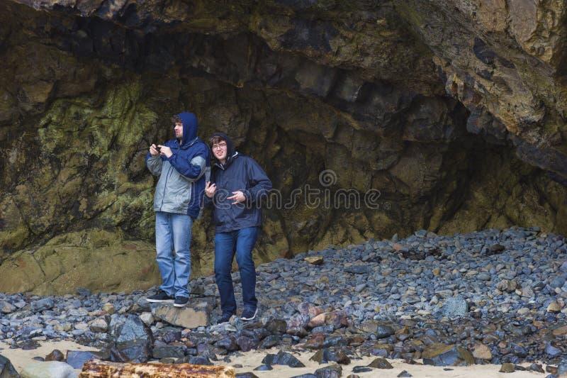 Twee Broers op de Kust van Oregon royalty-vrije stock afbeelding