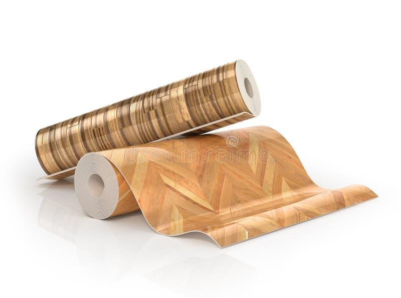 Twee broodjes van linoleum met houten textuur royalty-vrije illustratie