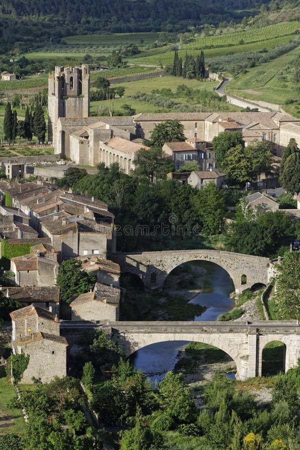 Twee bruggen en een abdij royalty-vrije stock afbeelding