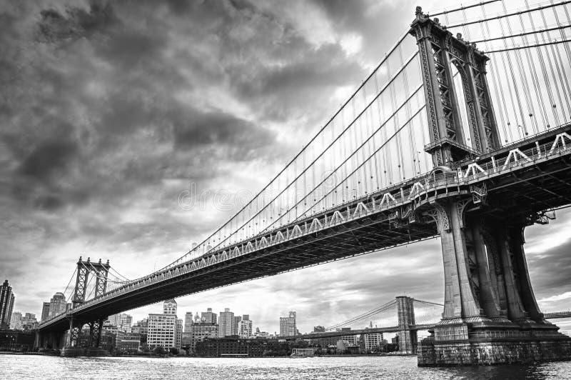Twee bruggen in NYC royalty-vrije stock afbeelding