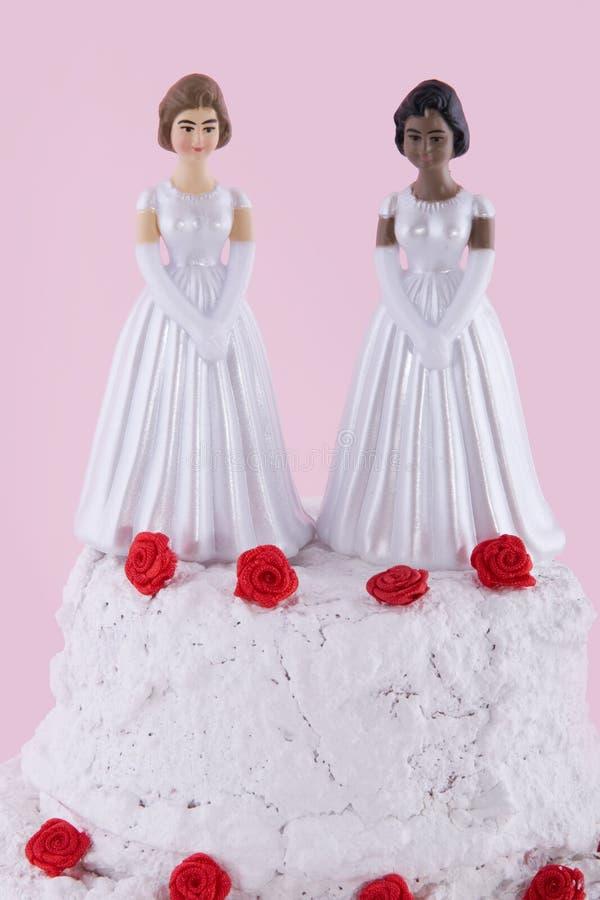 Twee bruiden royalty-vrije stock foto's