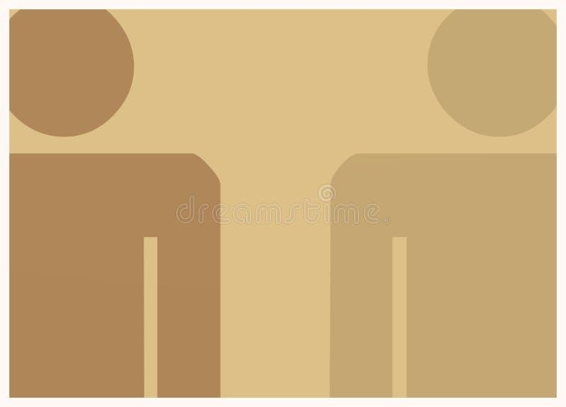 Twee bruine karakters - vector illustratie