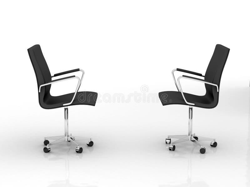 Twee bureaustoelen royalty-vrije illustratie