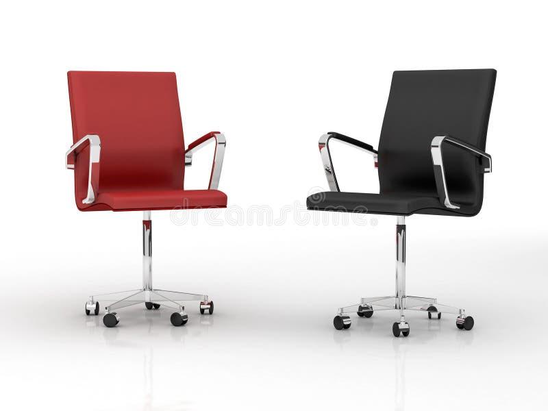 Twee bureaustoelen stock illustratie