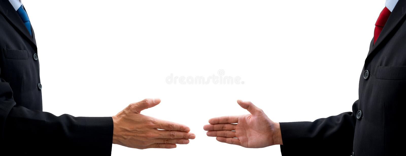 Twee businessmans die overeenkomst maken stock afbeeldingen