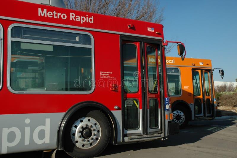 Twee Bussen CNG stock fotografie