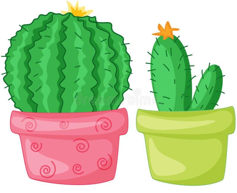Twee cactussen vector illustratie