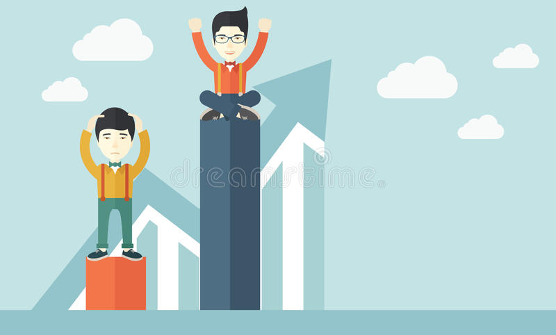 Twee Chinese zakenlieden stock illustratie