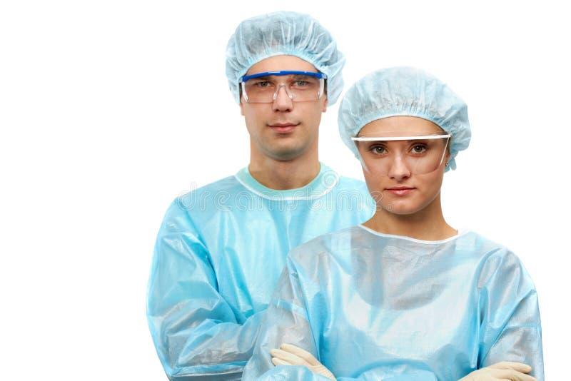 Twee chirurgen royalty-vrije stock afbeelding