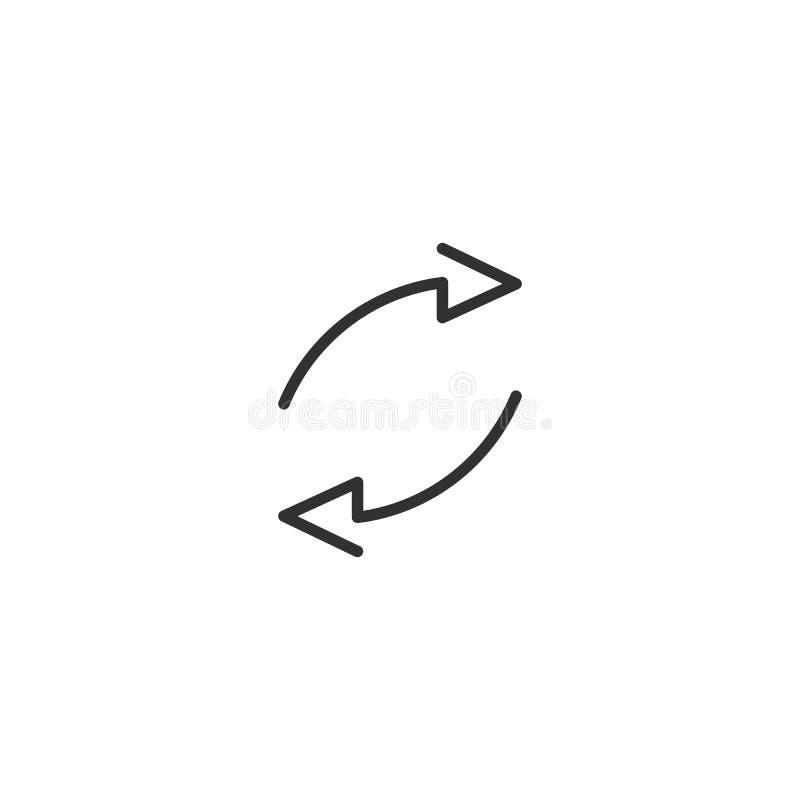 Twee Cirkelpijlen voor infographic Eenvoudig vlak 360 diagrampictogram Lineaire overzichtspijlen met editable slag Vector illustr royalty-vrije illustratie