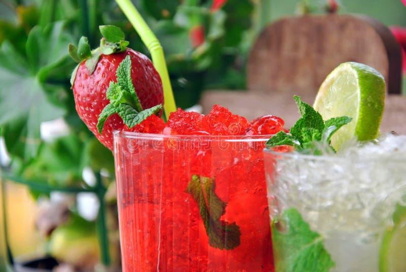 Twee cocktails royalty-vrije stock foto's