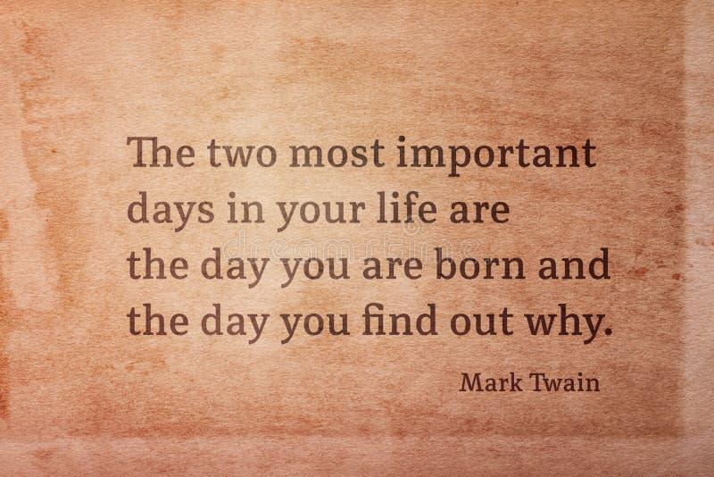 Twee dagen Twain stock afbeelding