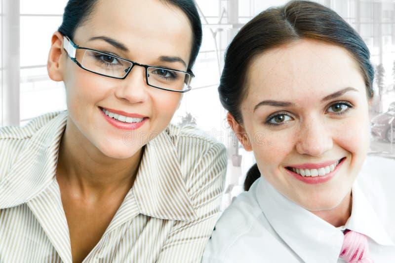 Twee dames stock foto