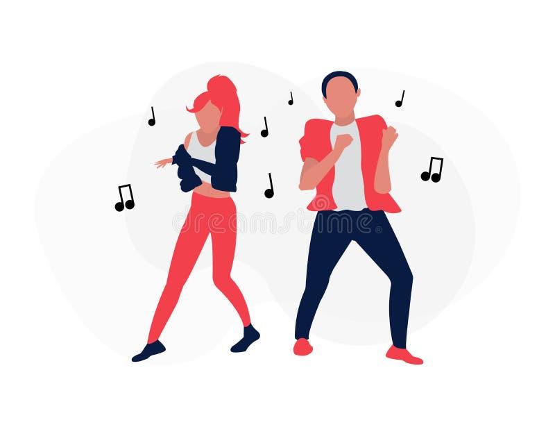 Twee dansende mensen royalty-vrije illustratie