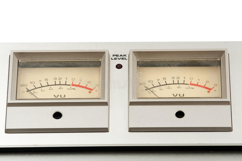 Twee decibelmeter royalty-vrije stock foto's