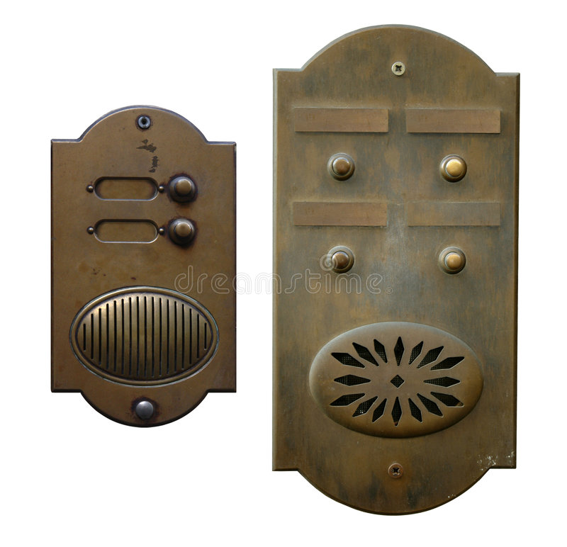 Twee deurklokken royalty-vrije stock foto