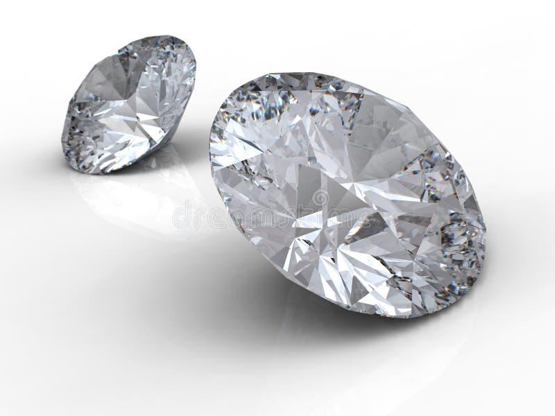 Twee diamanten royalty-vrije illustratie