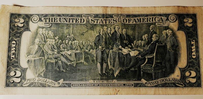 Twee dollars royalty-vrije stock foto