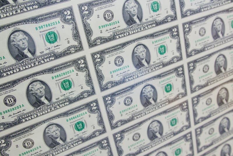 Twee dollars stock foto