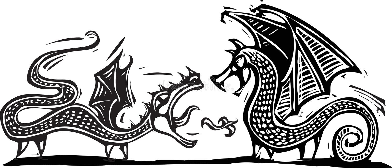Twee Draken Royalty-vrije Stock Foto