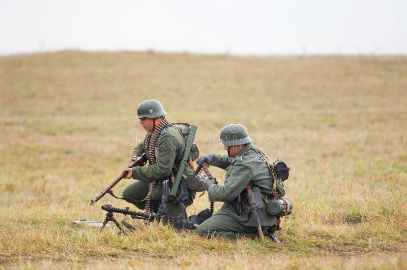 Twee Duitse militairen stock foto