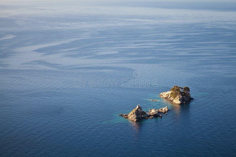 Twee eilanden Katic en Sveta Nedjelja royalty-vrije stock foto