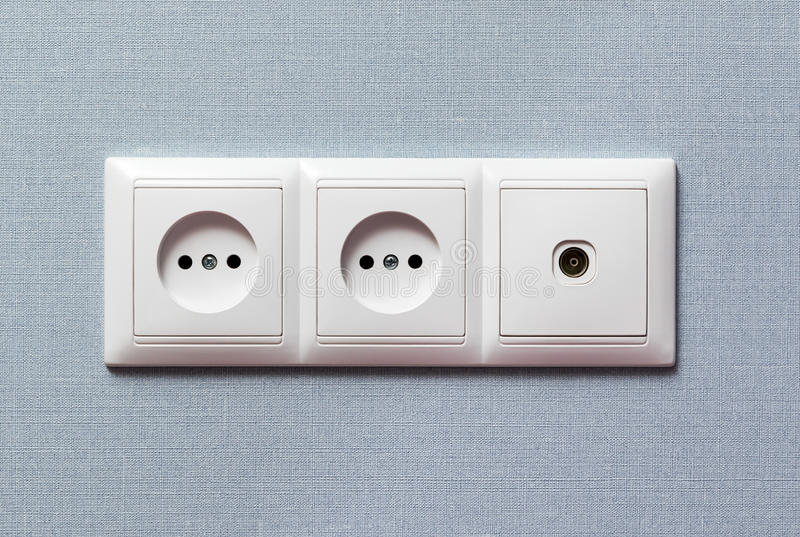 Twee elektro en TV-afzet stock foto