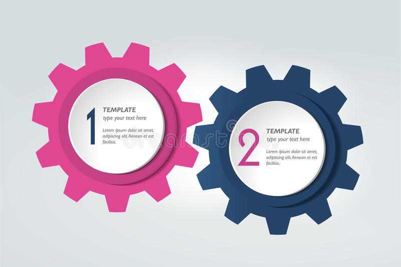 Twee elementengrafiek, regeling, diagram Het Malplaatje van Infographic royalty-vrije illustratie