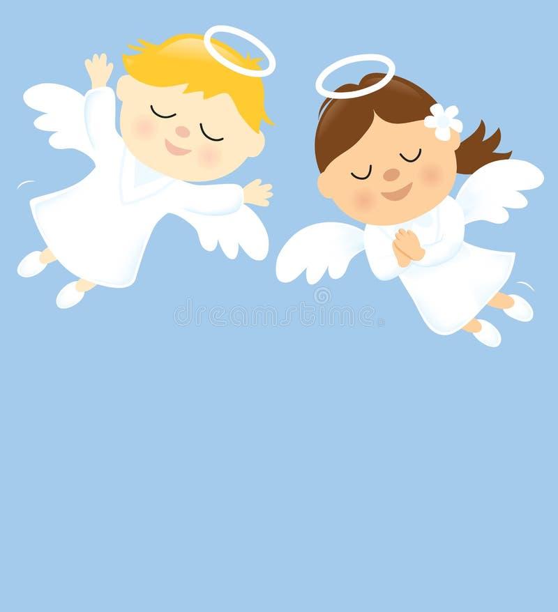 Download Twee Engelen vector illustratie. Illustratie bestaande uit illustratie - 29513202