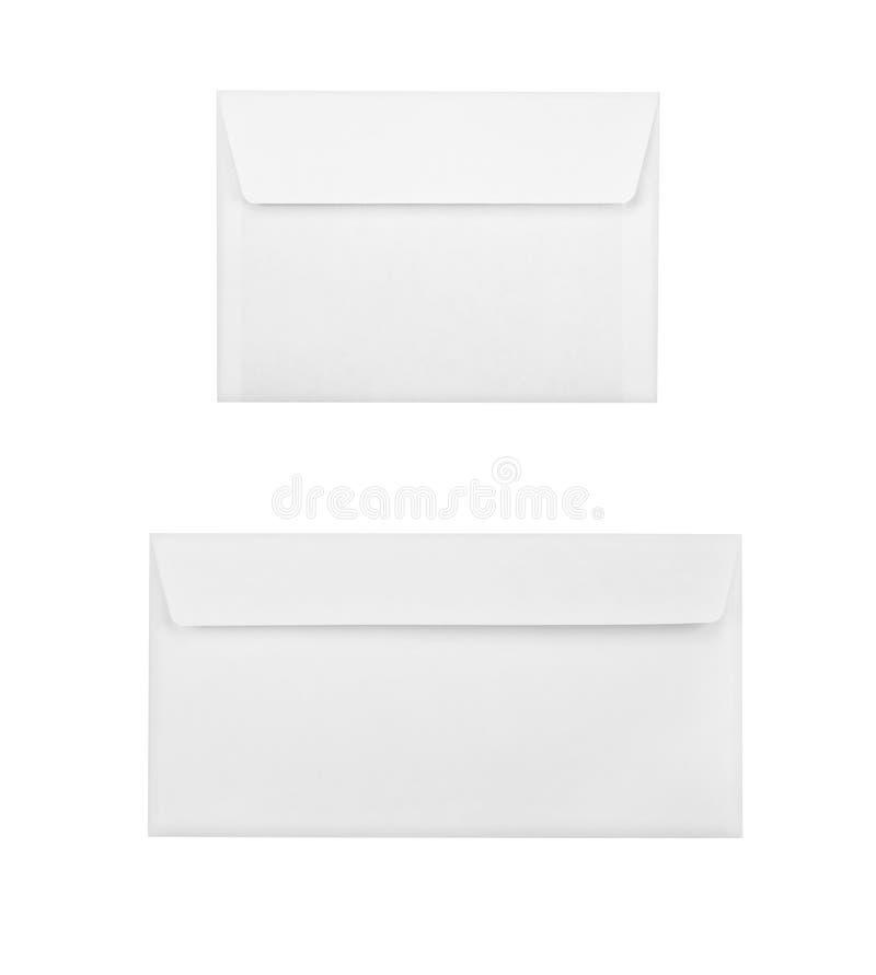 Twee enveloppen stock afbeelding