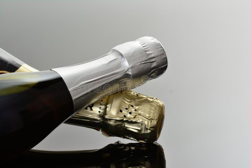 Twee Flessen van Champagne stock fotografie