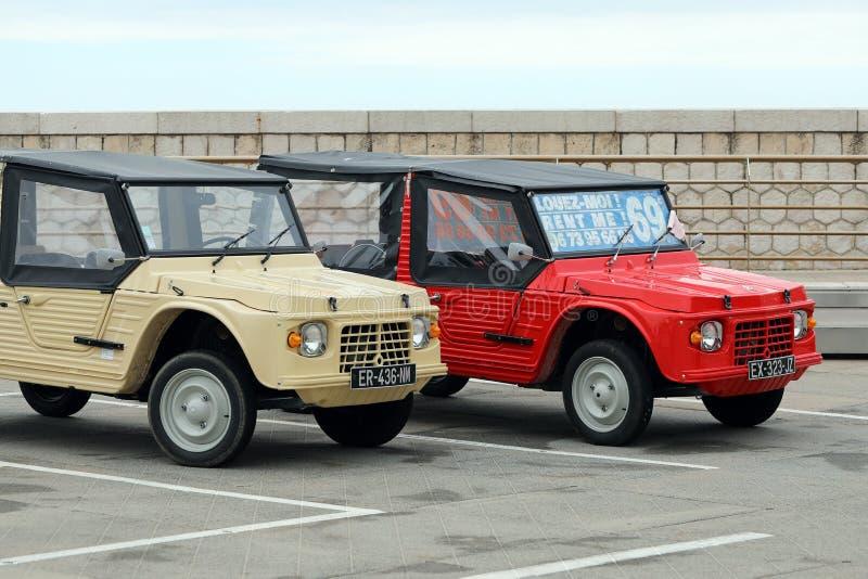 Twee Franse Retro Auto's van Citroën Mehari royalty-vrije stock foto