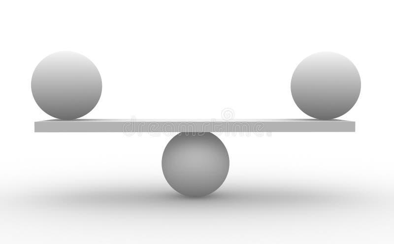 Twee gebieden vector illustratie