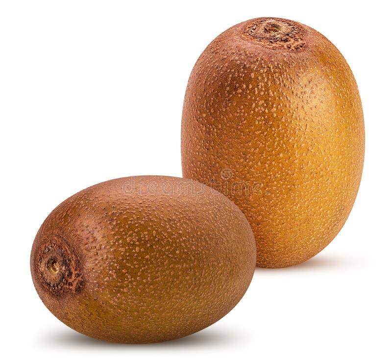 Twee geel gouden kiwifruit royalty-vrije stock foto