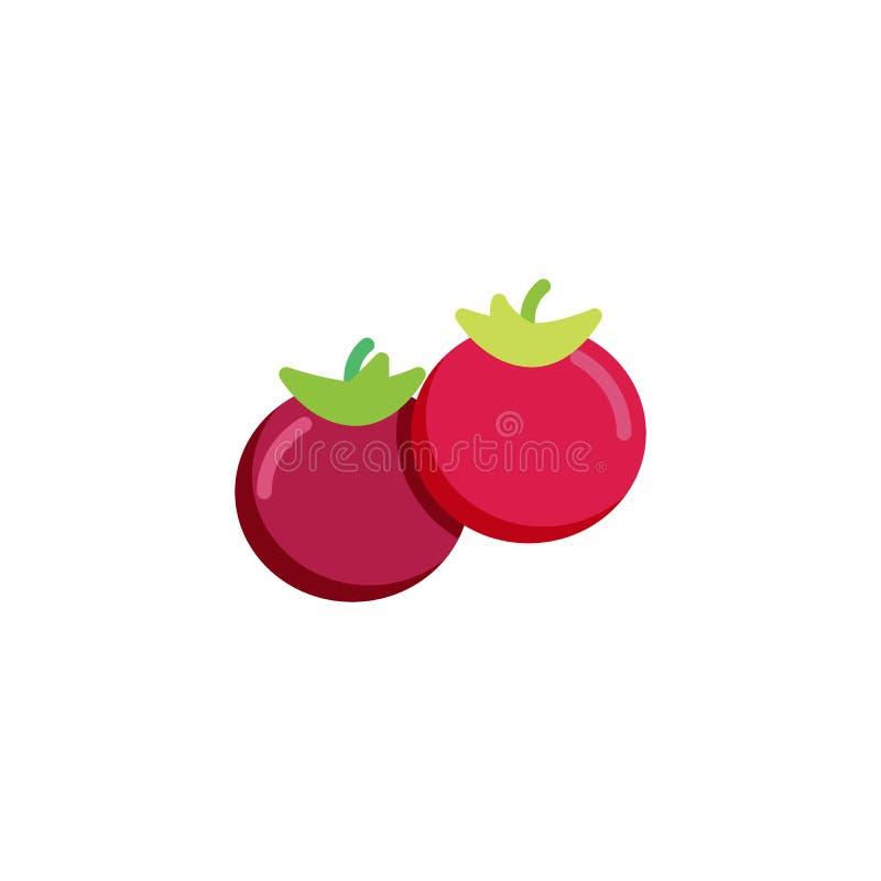 Twee geheel tomaten vlak pictogram vector illustratie