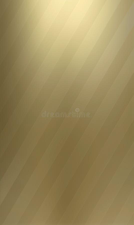 Twee-gestemde messings metaalachtergrond vector illustratie