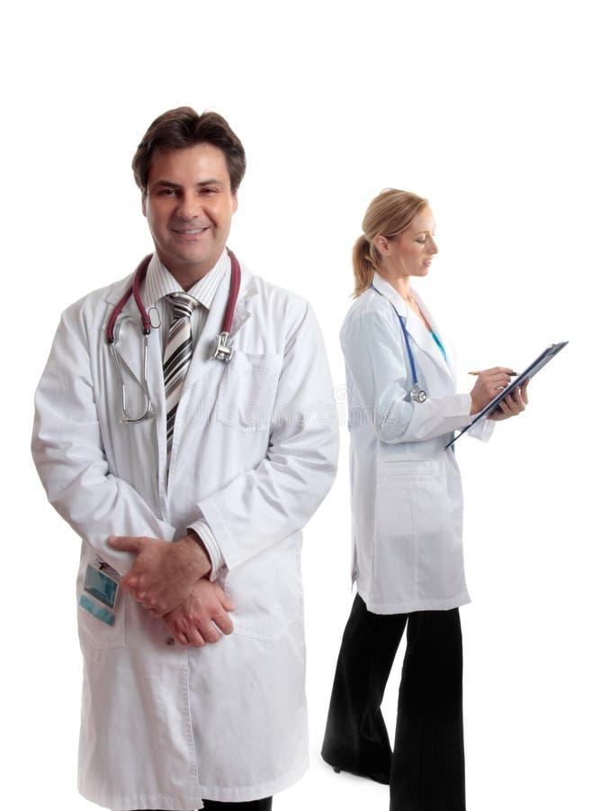 Twee gezondheidszorgberoeps stock fotografie