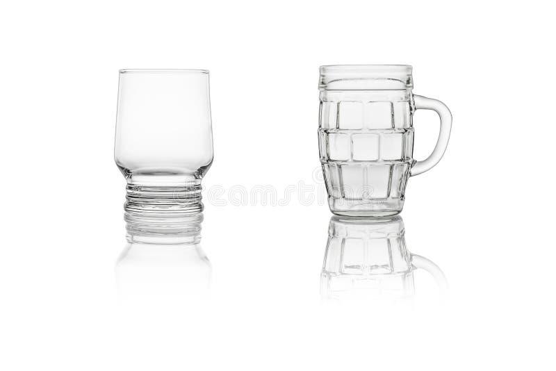 Twee glazen stock foto
