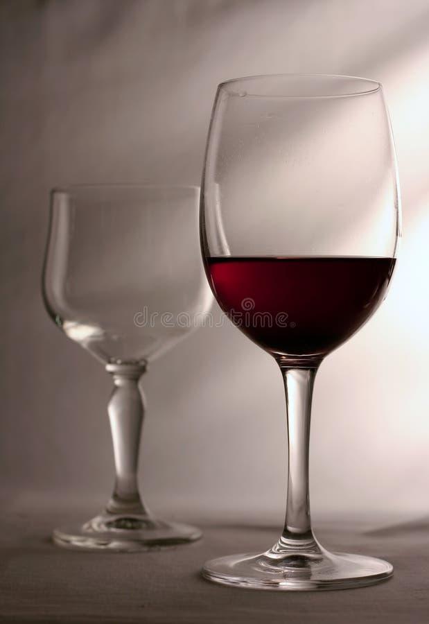 Twee glazen stock afbeelding