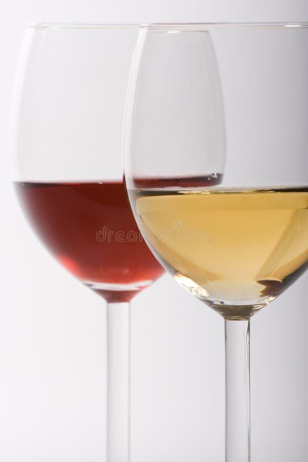 Twee glazen met wijn royalty-vrije stock foto's