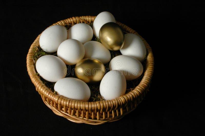 Twee Gouden Eieren stock afbeeldingen