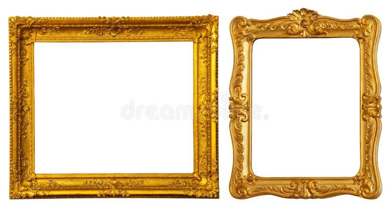 Twee gouden frames stock fotografie