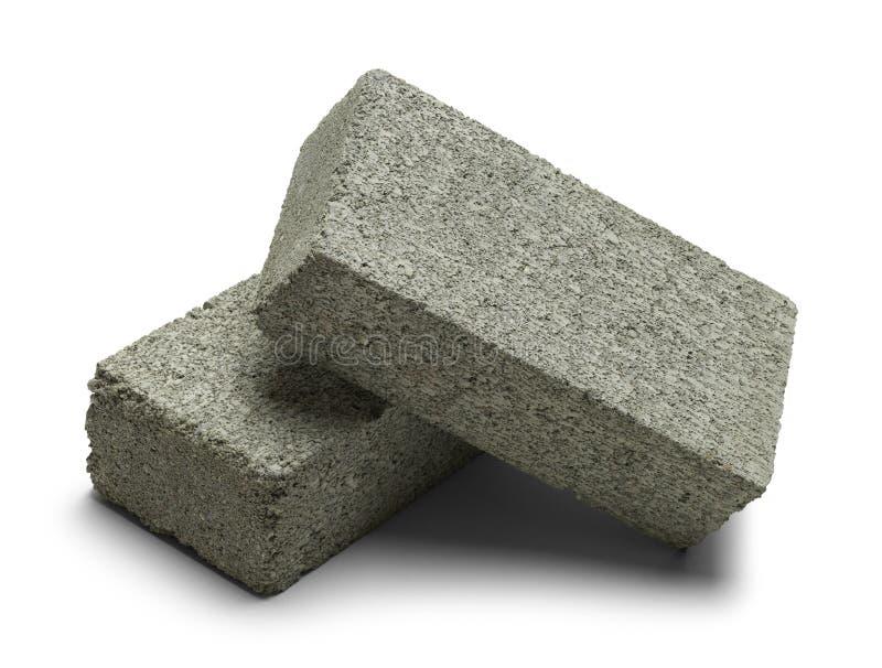 Twee Grey Bricks stock afbeeldingen