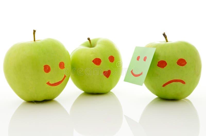 Twee groene appelen royalty-vrije stock afbeeldingen