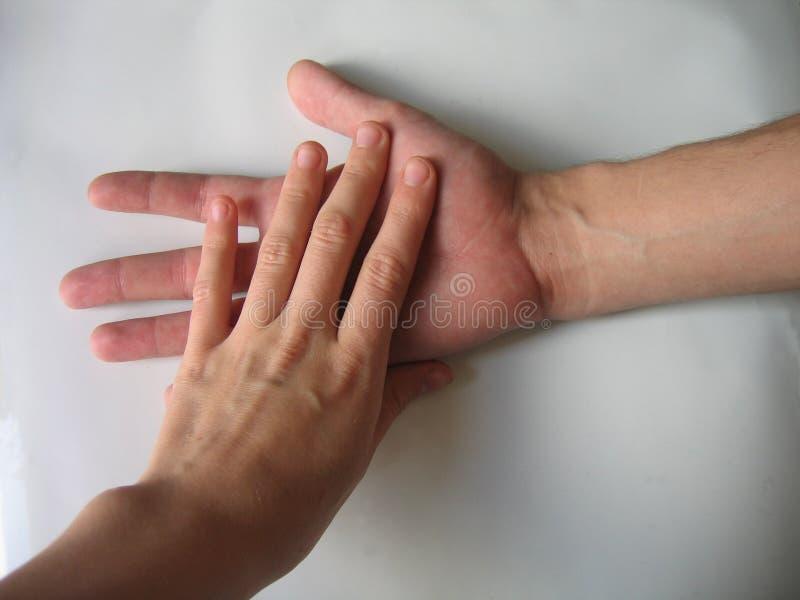 Twee handen royalty-vrije stock foto