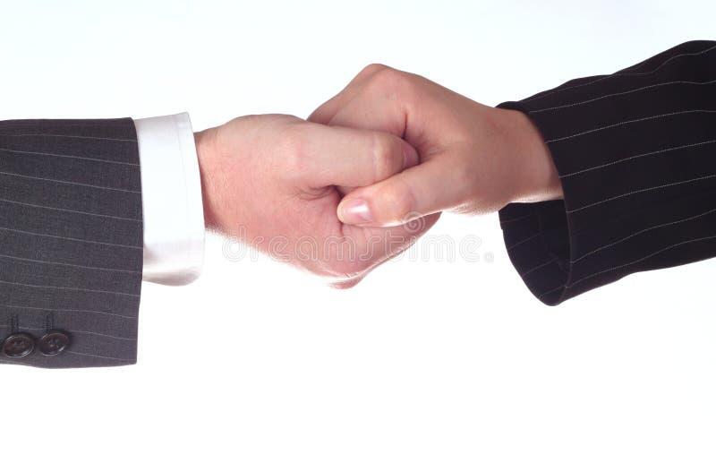 Twee handen - synergisme stock foto