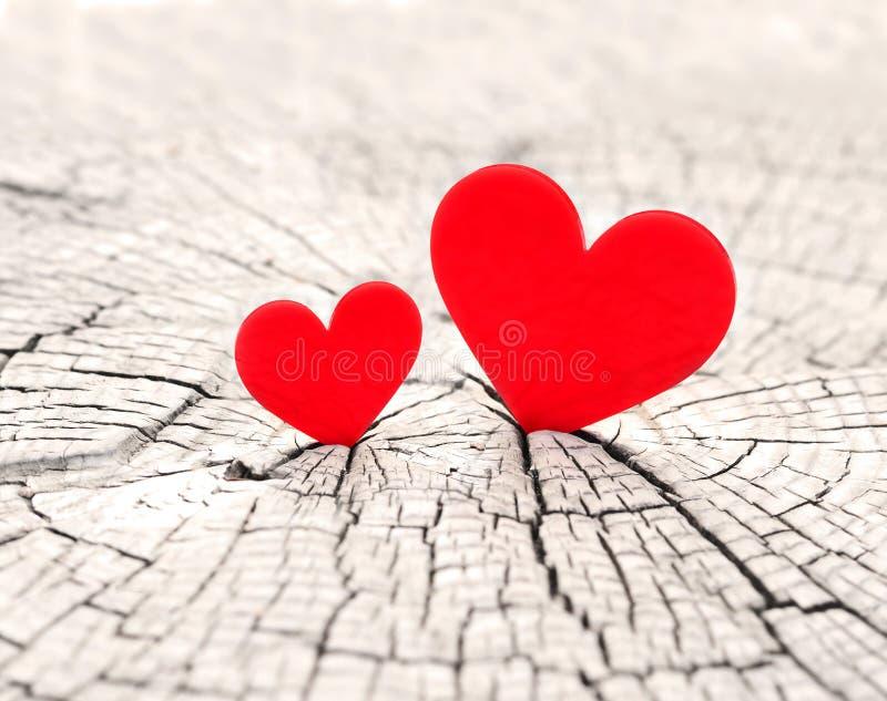 Twee harten royalty-vrije stock afbeelding