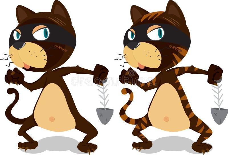 Twee het dansen Katten stock illustratie