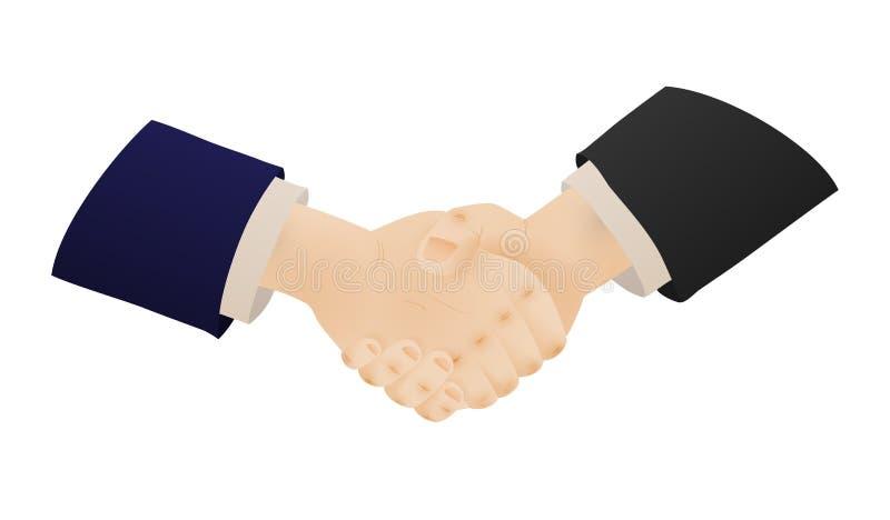 Twee het schudden handen van zakenlieden royalty-vrije illustratie