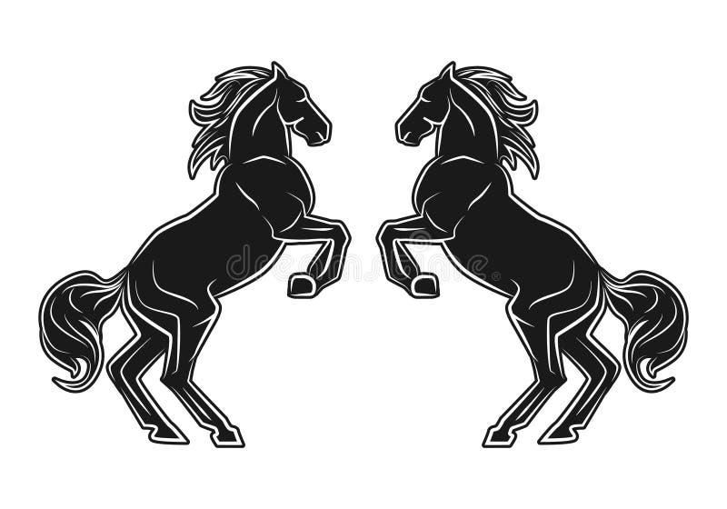 Twee het springen paarden stock illustratie